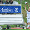 Hamilton College defender Matt Kastilahn (17)<br /> <br /> 10/11/17 4:12:07 PM Men's Soccer: Utica College v Hamilton College, at Love Field, Hamilton College, Clinton, NY<br /> <br /> Final:  Utica 0  Hamilton 1  2OT<br /> <br /> Photo by Josh McKee