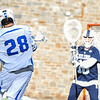 Hamilton College midfielder Matt Saltzman (28), GOAL<br /> <br /> 4/4/18 4:06:10 PM Men's Lacrosse: Middlebury College v Hamilton College at Steuben Field, Hamilton College, Clinton, NY<br /> <br /> Photo by Josh McKee