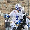 3/25/17 12:49:56 PM Hamilton College Men's Lacrosse v. Amherst College at Steuben Field, Hamilton College, Clinton, NY<br /> <br /> Hamilton College midfielder Jack Gaul (5)<br /> <br /> Amherst 17  Hamilton 9<br /> <br /> Photo by Josh McKee