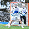Hamilton College defender Noah Huizenga (48)<br /> <br /> 4/4/18 4:01:32 PM Men's Lacrosse: Middlebury College v Hamilton College at Steuben Field, Hamilton College, Clinton, NY<br /> <br /> Photo by Josh McKee