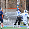 Hamilton College goalkeeper Kyle Gately (33)<br /> <br /> 4/4/18 3:55:15 PM Men's Lacrosse: Middlebury College v Hamilton College at Steuben Field, Hamilton College, Clinton, NY<br /> <br /> Photo by Josh McKee