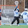 Hamilton College goalkeeper Kyle Gately (33)<br /> <br /> 4/4/18 3:55:15 PM Men's Lacrosse: Middlebury College v Hamilton College at Steuben Field, Hamilton College, Clinton, NY<br /> <br /> Photo by Josh McKee