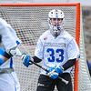 Hamilton College goalkeeper Kyle Gately (33)<br /> <br /> 4/4/18 3:56:50 PM Men's Lacrosse: Middlebury College v Hamilton College at Steuben Field, Hamilton College, Clinton, NY<br /> <br /> Photo by Josh McKee