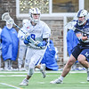 Hamilton College midfielder Brock Bowers (8)<br /> <br /> 4/4/18 5:05:26 PM Men's Lacrosse: Middlebury College v Hamilton College at Steuben Field, Hamilton College, Clinton, NY<br /> <br /> Photo by Josh McKee