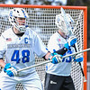 Hamilton College defender Noah Huizenga (48)<br /> <br /> 4/4/18 4:01:33 PM Men's Lacrosse: Middlebury College v Hamilton College at Steuben Field, Hamilton College, Clinton, NY<br /> <br /> Photo by Josh McKee