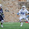 Hamilton College LSM/D Andrej Bogdanovics (43)<br /> <br /> 4/4/18 3:44:23 PM Men's Lacrosse: Middlebury College v Hamilton College at Steuben Field, Hamilton College, Clinton, NY<br /> <br /> Photo by Josh McKee