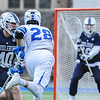 Hamilton College midfielder Matt Saltzman (28), GOAL<br /> <br /> 4/4/18 5:10:41 PM Men's Lacrosse: Middlebury College v Hamilton College at Steuben Field, Hamilton College, Clinton, NY<br /> <br /> Photo by Josh McKee