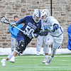 Hamilton College midfielder James Sanderson (13)<br /> <br /> 4/4/18 4:53:19 PM Men's Lacrosse: Middlebury College v Hamilton College at Steuben Field, Hamilton College, Clinton, NY<br /> <br /> Photo by Josh McKee