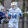 Hamilton College midfielder Zach Larsen (14)<br /> <br /> 4/4/18 3:47:55 PM Men's Lacrosse: Middlebury College v Hamilton College at Steuben Field, Hamilton College, Clinton, NY<br /> <br /> Photo by Josh McKee