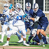 Hamilton College LSM/D Andrej Bogdanovics (43)<br /> <br /> 4/4/18 3:38:49 PM Men's Lacrosse: Middlebury College v Hamilton College at Steuben Field, Hamilton College, Clinton, NY<br /> <br /> Photo by Josh McKee
