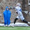 Hamilton College defender John Ennis (42)<br /> <br /> 4/4/18 4:42:16 PM Men's Lacrosse: Middlebury College v Hamilton College at Steuben Field, Hamilton College, Clinton, NY<br /> <br /> Photo by Josh McKee