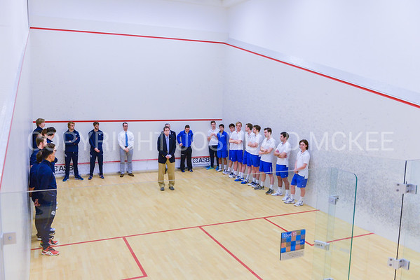 2/2/18 4:33:33 PM NESCAC Squash Championships--First Round: Connecticut College v Hamilton College at Little Squash Center, Hamilton College, Clinton, NY<br /> <br /> Photo by Josh McKee