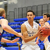 Hamilton College guard Kena Gilmour (24)<br /> <br /> 11/28/17 7:11:06 PM Men's Basketball: SUNY New Paltz v Hamilton College at Margaret Bundy Scott Field House, Hamilton College, Clinton, NY<br /> <br /> Final:  SUNY New Paltz 66   Hamilton 104 <br /> <br /> Photo by Josh McKee