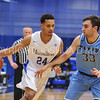 Hamilton College guard Kena Gilmour (24)<br /> <br /> 2/17/18 3:09:27 PM Men's Basketball- NESCAC Championship Quarterfinal:  Tufts University v #15 Hamilton College at Margaret Bundy Scott Field House, Hamilton College, Clinton, NY<br /> <br /> Final: Tufts 82  #15 Hamilton 91<br /> <br /> Photo by Josh McKee