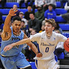 Hamilton College guard Tim Doyle (0)<br /> <br /> 2/17/18 3:06:38 PM Men's Basketball- NESCAC Championship Quarterfinal:  Tufts University v #15 Hamilton College at Margaret Bundy Scott Field House, Hamilton College, Clinton, NY<br /> <br /> Final: Tufts 82  #15 Hamilton 91<br /> <br /> Photo by Josh McKee