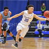 Hamilton College guard Vince Conn (20)<br /> <br /> 2/17/18 3:16:06 PM Men's Basketball- NESCAC Championship Quarterfinal:  Tufts University v #15 Hamilton College at Margaret Bundy Scott Field House, Hamilton College, Clinton, NY<br /> <br /> Final: Tufts 82  #15 Hamilton 91<br /> <br /> Photo by Josh McKee