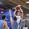 Hamilton College forward Michael Grassey (15)<br /> <br /> 2/17/18 3:05:09 PM Men's Basketball- NESCAC Championship Quarterfinal:  Tufts University v #15 Hamilton College at Margaret Bundy Scott Field House, Hamilton College, Clinton, NY<br /> <br /> Final: Tufts 82  #15 Hamilton 91<br /> <br /> Photo by Josh McKee