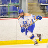 Hamilton College forward T.J. Daigler (20)<br /> <br /> 1/20/18 6:31:44 PM Men's Hockey: Amherst College v Hamilton College at Russell Sage Rink, Hamilton College, Clinton, NY<br /> <br /> Photo by Josh McKee