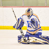 Hamilton College goaltender Peter Negron (1)<br /> <br /> 1/20/18 6:35:41 PM Men's Hockey: Amherst College v Hamilton College at Russell Sage Rink, Hamilton College, Clinton, NY<br /> <br /> Photo by Josh McKee