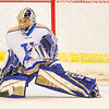 Hamilton College goaltender Peter Negron (1)<br /> <br /> 1/20/18 6:35:55 PM Men's Hockey: Amherst College v Hamilton College at Russell Sage Rink, Hamilton College, Clinton, NY<br /> <br /> Photo by Josh McKee