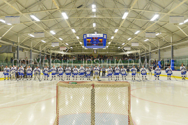 Team, Russell Sage Rink<br /> <br /> 12/2/17 6:59:55 PM Men's Hockey:  Trinity College v Hamilton College at Russell Sage Rink, Hamilton College, Clinton, NY<br /> <br /> FINAL:  Trinity 1  Hamilton 0<br /> <br /> Photo by Josh McKee