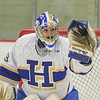 Hamilton College goaltender Evan Buitenhuis (29)<br /> <br /> 12/2/17 6:29:01 PM Men's Hockey:  Trinity College v Hamilton College at Russell Sage Rink, Hamilton College, Clinton, NY<br /> <br /> FINAL:  Trinity 1  Hamilton 0<br /> <br /> Photo by Josh McKee
