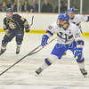 Hamilton College forward T.J. Daigler (20)<br /> <br /> 12/2/17 7:05:27 PM Men's Hockey:  Trinity College v Hamilton College at Russell Sage Rink, Hamilton College, Clinton, NY<br /> <br /> FINAL:  Trinity 1  Hamilton 0<br /> <br /> Photo by Josh McKee