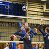 Hamilton College middle blocker Margaret O'Brien (15)<br /> <br /> 9/15/17 8:07:01 PM Women's Volleyball:  Connecticut College vs Hamilton College, at Margaret Bundy Scott Field House, Hamilton College, Clinton, NY<br /> <br /> Final:  Conn 1  Hamilton 3<br /> <br /> Photo by Josh McKee