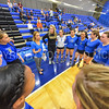 Coach Kristin Baker, Team<br /> <br /> 9/15/17 8:01:04 PM Women's Volleyball:  Connecticut College vs Hamilton College, at Margaret Bundy Scott Field House, Hamilton College, Clinton, NY<br /> <br /> Final:  Conn 1  Hamilton 3<br /> <br /> Photo by Josh McKee