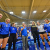 Coach Kristin Baker, Team<br /> <br /> 9/15/17 8:01:15 PM Women's Volleyball:  Connecticut College vs Hamilton College, at Margaret Bundy Scott Field House, Hamilton College, Clinton, NY<br /> <br /> Final:  Conn 1  Hamilton 3<br /> <br /> Photo by Josh McKee