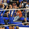 Hamilton College middle blocker Dorothy Poucher (17), Hamilton College outside hitter Courtney Brown (6)<br /> <br /> 9/15/17 8:09:08 PM Women's Volleyball:  Connecticut College vs Hamilton College, at Margaret Bundy Scott Field House, Hamilton College, Clinton, NY<br /> <br /> Final:  Conn 1  Hamilton 3<br /> <br /> Photo by Josh McKee