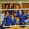 Hamilton College opposite hitter Giuliana Rankin (11), Hamilton College middle blocker Dorothy Poucher (17)<br /> <br /> 9/15/17 8:10:24 PM Women's Volleyball:  Connecticut College vs Hamilton College, at Margaret Bundy Scott Field House, Hamilton College, Clinton, NY<br /> <br /> Final:  Conn 1  Hamilton 3<br /> <br /> Photo by Josh McKee