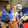 Hamilton College outside hitter Courtney Brown (6)<br /> <br /> 10/27/17 8:10:50 PM Women's Volleyball:  Middlebury College vs Hamilton College, at Margaret Bundy Scott Field House, Hamilton College, Clinton, NY<br /> <br /> Final:  Middlebury 2   Hamilton 3<br /> <br /> Photo by Josh McKee