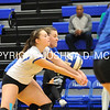 Hamilton College L/DS Christine Zizzi (9), Hamilton College outside hitter Erin Donahue (4)<br /> <br /> 10/27/17 8:12:23 PM Women's Volleyball:  Middlebury College vs Hamilton College, at Margaret Bundy Scott Field House, Hamilton College, Clinton, NY<br /> <br /> Final:  Middlebury 2   Hamilton 3<br /> <br /> Photo by Josh McKee