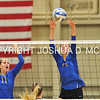 Hamilton College middle blocker Margaret O'Brien (15), Hamilton College opposite hitter Giuliana Rankin (11)<br /> <br /> 10/27/17 8:18:51 PM Women's Volleyball:  Middlebury College vs Hamilton College, at Margaret Bundy Scott Field House, Hamilton College, Clinton, NY<br /> <br /> Final:  Middlebury 2   Hamilton 3<br /> <br /> Photo by Josh McKee