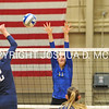 Hamilton College opposite hitter Giuliana Rankin (11), Hamilton College middle blocker Margaret O'Brien (15)<br /> <br /> 10/27/17 8:18:06 PM Women's Volleyball:  Middlebury College vs Hamilton College, at Margaret Bundy Scott Field House, Hamilton College, Clinton, NY<br /> <br /> Final:  Middlebury 2   Hamilton 3<br /> <br /> Photo by Josh McKee