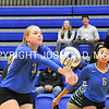 Hamilton College middle blocker Dorothy Poucher (17)<br /> <br /> 10/27/17 8:29:09 PM Women's Volleyball:  Middlebury College vs Hamilton College, at Margaret Bundy Scott Field House, Hamilton College, Clinton, NY<br /> <br /> Final:  Middlebury 2   Hamilton 3<br /> <br /> Photo by Josh McKee