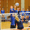 Hamilton College opposite hitter Giuliana Rankin (11)<br /> <br /> 10/27/17 8:19:50 PM Women's Volleyball:  Middlebury College vs Hamilton College, at Margaret Bundy Scott Field House, Hamilton College, Clinton, NY<br /> <br /> Final:  Middlebury 2   Hamilton 3<br /> <br /> Photo by Josh McKee