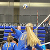 Hamilton College outside hitter Erin Donahue (4)<br /> <br /> 10/27/17 8:14:19 PM Women's Volleyball:  Middlebury College vs Hamilton College, at Margaret Bundy Scott Field House, Hamilton College, Clinton, NY<br /> <br /> Final:  Middlebury 2   Hamilton 3<br /> <br /> Photo by Josh McKee