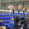 Hamilton College outside hitter Courtney Brown (6)<br /> <br /> 10/27/17 8:26:10 PM Women's Volleyball:  Middlebury College vs Hamilton College, at Margaret Bundy Scott Field House, Hamilton College, Clinton, NY<br /> <br /> Final:  Middlebury 2   Hamilton 3<br /> <br /> Photo by Josh McKee