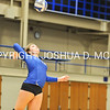 Hamilton College setter Kyndal Burdin (13)<br /> <br /> 10/27/17 8:08:49 PM Women's Volleyball:  Middlebury College vs Hamilton College, at Margaret Bundy Scott Field House, Hamilton College, Clinton, NY<br /> <br /> Final:  Middlebury 2   Hamilton 3<br /> <br /> Photo by Josh McKee
