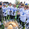 Team, Hamilton College head coach Patty Kloidt<br /> <br /> 3/10/18 12:02:27 PM Women's Lacrosse:  Colby College v Hamilton College at Withiam Field, Hamilton College, Clinton, NY<br /> <br /> Final: Colby  9   Hamilton 11<br /> <br /> Photo by Josh McKee