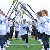 Hamilton College midfielder Sarah Kaiser (27)<br /> <br /> 3/10/18 11:59:59 AM Women's Lacrosse:  Colby College v Hamilton College at Withiam Field, Hamilton College, Clinton, NY<br /> <br /> Final: Colby  9   Hamilton 11<br /> <br /> Photo by Josh McKee