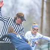 Hamilton College midfielder Kara Pooley (5)<br /> <br /> 4/14/18 12:55:58 PM Women's Lacrosse: Connecticut College vs Hamilton College, at Steuben Field, Hamilton College, Clinton, NY <br /> <br /> Final:  Connecticut 8    Hamilton 13<br /> <br /> Photo by Josh McKee