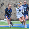 Hamilton College midfielder Kara Pooley (5)<br /> <br /> 4/14/18 1:36:52 PM Women's Lacrosse: Connecticut College vs Hamilton College, at Steuben Field, Hamilton College, Clinton, NY <br /> <br /> Final:  Connecticut 8    Hamilton 13<br /> <br /> Photo by Josh McKee