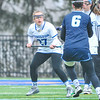 Hamilton College midfielder Sarah Kaiser (27)<br /> <br /> 4/14/18 12:35:45 PM Women's Lacrosse: Connecticut College vs Hamilton College, at Steuben Field, Hamilton College, Clinton, NY <br /> <br /> Final:  Connecticut 8    Hamilton 13<br /> <br /> Photo by Josh McKee