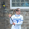 Hamilton College midfielder Jackie Cuddy (7)<br /> <br /> 4/14/18 12:26:17 PM Women's Lacrosse: Connecticut College vs Hamilton College, at Steuben Field, Hamilton College, Clinton, NY <br /> <br /> Final:  Connecticut 8    Hamilton 13<br /> <br /> Photo by Josh McKee