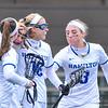 Celebration<br /> <br /> 4/14/18 1:58:34 PM Women's Lacrosse: Connecticut College vs Hamilton College, at Steuben Field, Hamilton College, Clinton, NY <br /> <br /> Final:  Connecticut 8    Hamilton 13<br /> <br /> Photo by Josh McKee