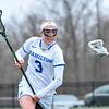 Hamilton College attacker Honor Gabriel (3)<br /> <br /> 4/14/18 12:09:26 PM Women's Lacrosse: Connecticut College vs Hamilton College, at Steuben Field, Hamilton College, Clinton, NY <br /> <br /> Final:  Connecticut 8    Hamilton 13<br /> <br /> Photo by Josh McKee