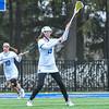 Hamilton College defender Gabby O'Brien (19)<br /> <br /> 4/14/18 12:25:10 PM Women's Lacrosse: Connecticut College vs Hamilton College, at Steuben Field, Hamilton College, Clinton, NY <br /> <br /> Final:  Connecticut 8    Hamilton 13<br /> <br /> Photo by Josh McKee